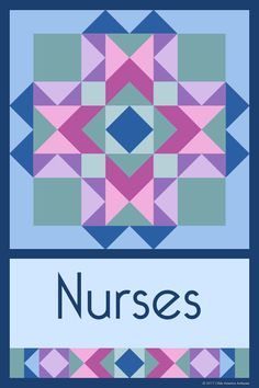 NURSES QUILT BLOCK - This quilt block is an original design by Susan Davis. Susan is the owner of Olde America Antiques and American Quilt Blocks. Visit her web sites to see more than 6,000 quilt blocks for sale.
