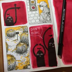 Don't blink you might miss something by Jamie Peach / 8-butt #art #journal #sketchbook