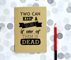 Pretty little liars notebook  two can keep a secret if one of them is dead by invisiblecrown, €4.75