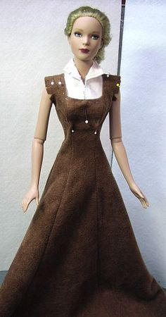 Pattern Creation from instruction sheet - for fashion dolls:  /marjolaineduche/barbie-vetements-divers/         BACK