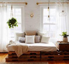 DIY pipe curtain rods! {bedroom}