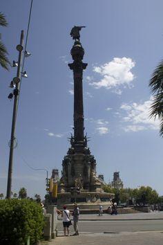 Columbus at the end of La Rambla #Travel #Spain #Barcelona #Larambla