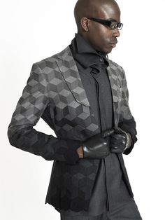 Certified Way to Stand Out as an Architect: Cube-Inspired Coat by Ichiro Suzuki