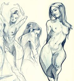 Figure Drawing 2 by Jerry Sabatini, via Behance