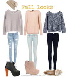 I think I would wear the jeans but I prefer jeggings or leggings, cute fall look