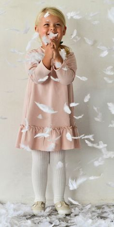 BOW dress in poudre pink - G i r l s