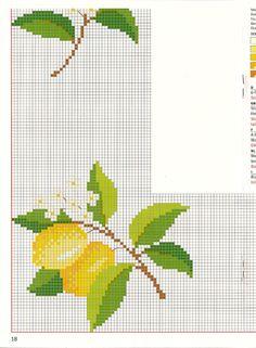 Tiny Cross Stitch, Cross Stitch Fruit, Cross Stitch Kitchen, Cross Stitch Borders, Cross Stitch Charts, Cross Stitching, Cross Stitch Patterns, Embroidery Patterns Free, Embroidery Art