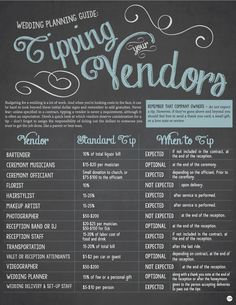There are so many different sources offering advice on tipping your wedding vendors, it can make your head spin. My Wedding has put together a handy tipping cheat sheet. While gratuity or a gift is always appreciated, it is not mandatory. A thoughtful thank you note is also cherished by your…
