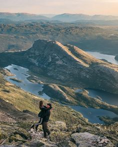 Guide to hiking Gaustatoppen in Telemark, Norway - How to see one-sixth of mainland Norway from Telemark's highest mountain   Best Tips Hiking Routes, Hiking Guide, Norway Travel Guide, National Road, Road Trip Adventure, Visit Norway, Travel Images, Travel Pictures, Amazing Destinations