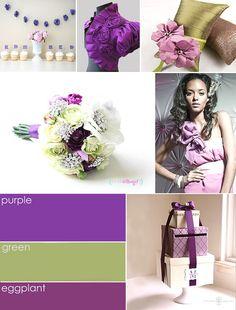 Purple Brooch Bouquet Colors