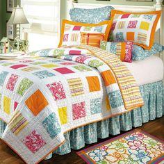 Kauai Cotton Tropical Patchwork Quilt Bedding