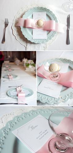 Elegant pink and blue baby shower