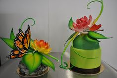 Sugar work. By Chef Scott at The French Pastry School in Chicago! Pastillage and sugar domes. #FPS #sugar