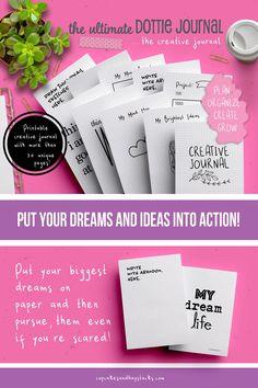 Life Binder, Life Planner, Bujo, Bullet Journal Starter Kit, Bullet Journal Printables, Easy Writing, Journal Aesthetic, Project Planner, Creative Journal