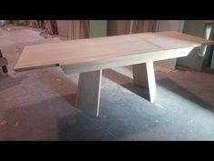 tavolo a tronco di piramide allungabile
