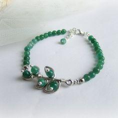Green aventurine bracelet branch bracelet by MalinaCapricciosa