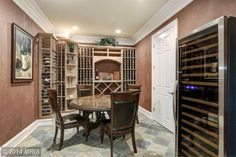 wine room in the basement