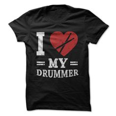Do you 'heart' the drummer in your life? Perhaps you have your own personal drummer that makes your life complete? Feel free to share the love with this shirt, designed specifically to help you show o