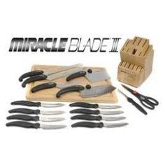 Cuchillos Corte Mágico Miracle Blade III - Juego Utensilios Cocina 16pz  | Anunciado en TV - La Tele www.OficialTV.com Teletienda Internacional