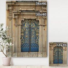 East Urban Home 'Lavish Old-European Door Vintage' - Unframed Graphic Art Print on Wood | Wayfair Wood Print, Art Print, Indoor Doors, Graphic Art, Urban, Vintage, Home Decor, Decoration Home, Room Decor