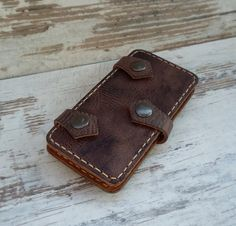 Leather iPhone 6 plus CaseWallet iPhone 6plus by JaklinDifferent Iphone Leather Case, Iphone Wallet Case, Leather Diy Crafts, Leather Crafting, Iphone 6, Party Friends, Iphone Cases For Girls, Handmade Leather Wallet, Leather Accessories