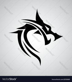 black spiky tribal dragon tattoo design black and white pinterest tribal. Black Bedroom Furniture Sets. Home Design Ideas
