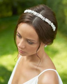 This item is unavailable Headpiece Wedding, Bridal Headpieces, Bridal Headbands, Crystal Headband, Wedding Hair Pieces, Bridal Hair Accessories, Bridal Style, Wedding Hairstyles, Gold Wedding