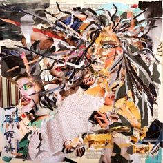 "Saatchi Art Artist Winston Torr; Collage, ""Collage: Medusa"" #art   #paris #germany #london #collage #popart #social #media #beauty #makeup #accessories #pop #home #decor #berlin #uk"