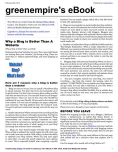 why-a-blog-is-better-than-a-website-e-book by greenempire via Slideshare