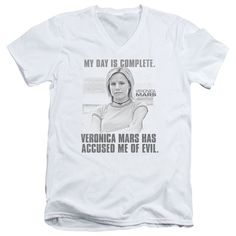 Veronica Mars/Complete Day Short Sleeve Adult T-Shirt V-Neck 30/1 in