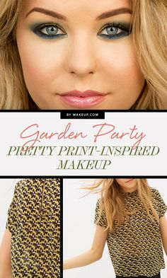 Garden Party: Pretty Print-Inspired Makeup // #makeup
