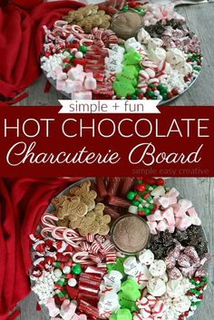 Hot Chocolate Charcuterie Board :: #charcuterieboard #charcuterieboardideas #hotchocolatetoppings