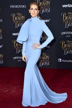 Селин Дион в Christian Siriano на премьере «Красавицы и чудовища» в Голливуде