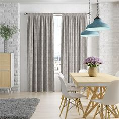 Simple and chic, the Tierra Aqua curtains brighten up your home with their fun colourway and lively style. What more could you want for a sweet family room? Room, Curtains Living Room, Grey Curtains, Yellow Curtains, Duck Egg Curtains, Blue Curtains, Curtain Decor, Silver Curtains, Grey Dining Room