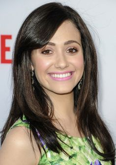 Emmy Rossum Long Hairstyle: Straight Haircut