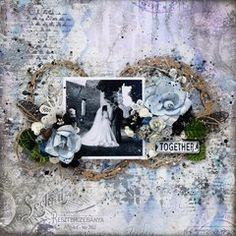 Find more wedding layouts in the Scrapbook.com inspiration gallery.