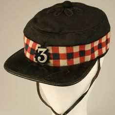 Forage cap - Cameronians (The Scottish Rifles) British Army Uniform, British Uniforms, Military Cap, Military Uniforms, Pax Britannica, Red Coats, Crimean War, Victorian Hats, Lewis And Clark