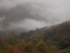 Asturias. Paisaje nublado