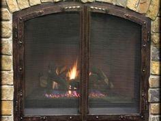 Fireplace Glass Doors-Arch European Style