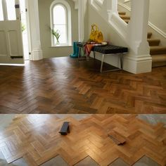 Started from the bottom now we here! Karndean Parquet Flooring in Morning Oak AP06.
