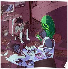Ouija Art Print by dqhantom Character Art, Character Design, Randy Cunningham, Ghost Boy, Fanart, Ouija, Cultura Pop, Gravity Falls, Cool Art