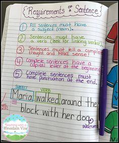 Writing Complete Sentences, Mentor Sentences, Paragraph Writing, Writing Rubrics, Narrative Writing, Opinion Writing, Persuasive Writing, Making Sentences, Writing Sentences