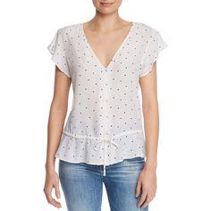 Chic Rails - Bretton Heart Peplum Silk Top Womens fashion Tops from top store Short Women Fashion, Womens Fashion, Sewing Blouses, Silk Top, Casual Tops, Clothing Patterns, Nice Tops, Shirt Blouses, Blouse Designs