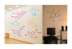 science wall decals | -izing? Try some removable vinyl decals. This set of six decals ...