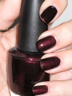 O.P.I.- Midnight in Moscow. Great winter holiday color!