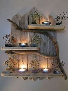DIY Home Decor 697002479803680157 - Charming Natural Genuine Driftwood Shelves Solid Rustic Shabby Chic Nautical. in Home, Furniture & DIY, Furniture, Bookcases, Shelving & Storage Retro Home Decor, Easy Home Decor, Cheap Home Decor, Diy Decorations For Home, Wood Decorations, Modern Shabby Chic, Shabby Chic Homes, Rustic Homes, Rustic Modern