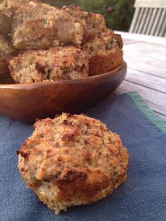 Flourless Chunky Apple Walnut Muffins   wheat-free   low-carb - Healthy High
