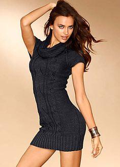 Laura Scott Roll Neck Knitted Dress