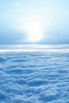 A celestial shot above the clouds x Light Blue Aesthetic, Blue Aesthetic Pastel, Aesthetic Colors, Blue Sky Wallpaper, Blue Wallpapers, Wallpaper Backgrounds, Blue Clouds, Sky And Clouds, Photo Wall Collage