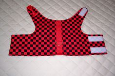 Small Red and Black Dog Harness Vest Clothing Pets